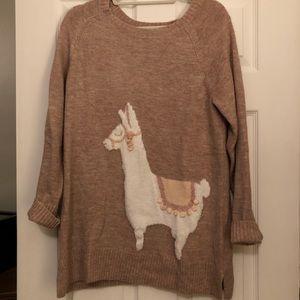 Llama sweater